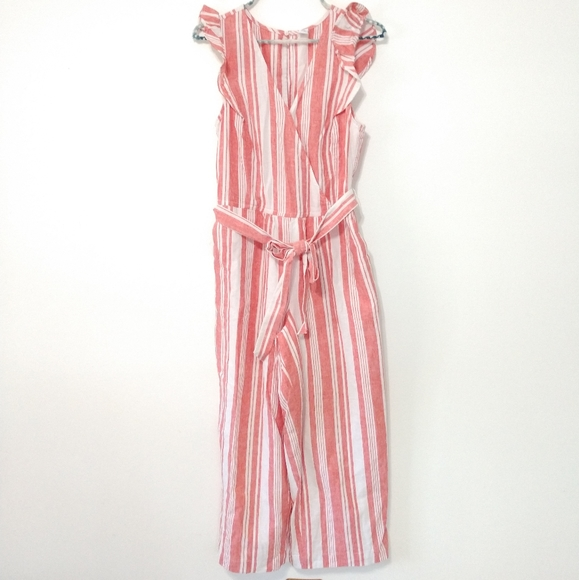 Old Navy Jumpsuit Sleeveless Red White Extra Small
